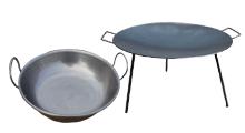 Železné grilovacie panvice